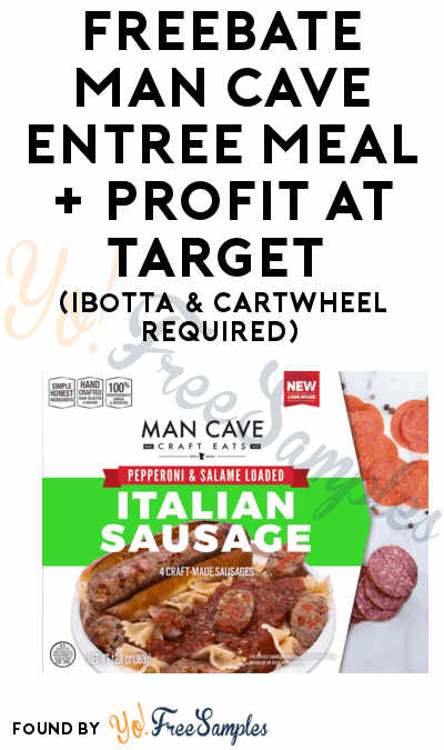 FREEBATE Man Cave Entree Meal + Profit At Target (Ibotta & Cartwheel Required)