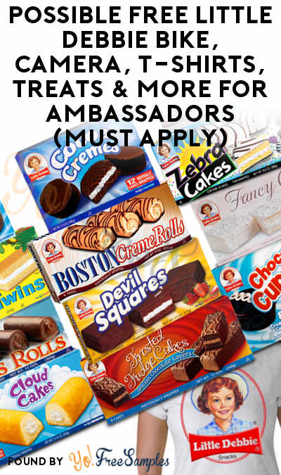Possible FREE Little Debbie Bike, Camera, T-Shirts, Treats & More For Ambassadors (Must Apply)