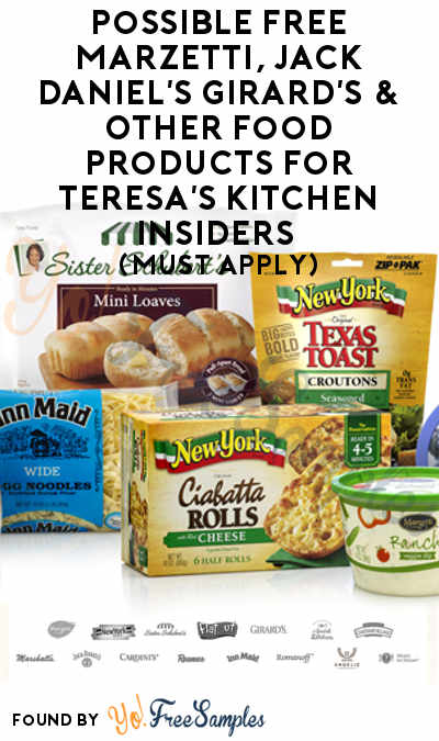 Possible FREE Marzetti, Jack Daniel's Girard's & Other Food Products For Teresa's Kitchen Insiders (Must Apply)