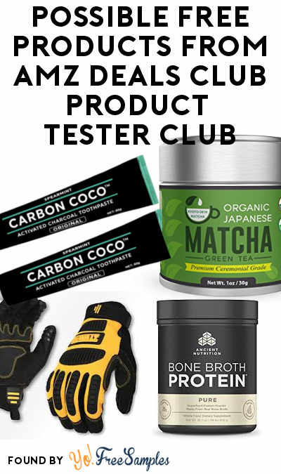 Possible FREE Products From AMZ Deals Club Product Tester Club