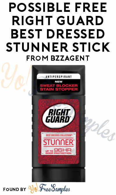 Possible FREE Right Guard Best Dressed Stunner Stick From BzzAgent