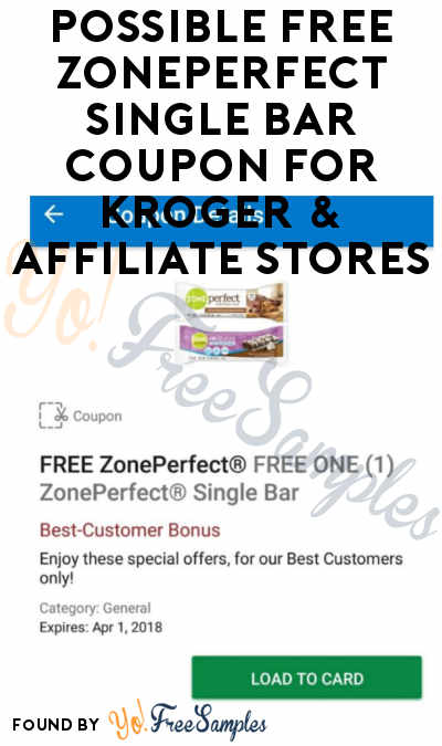 Possible FREE ZonePerfect Single Bar Coupon For Kroger & Affiliate Stores