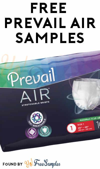 FREE Prevail Air Briefs Sample Packs