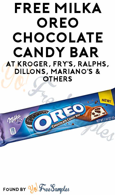 TODAY ONLY: FREE MILKA OREO Chocolate Candy Bar At Kroger, Fry's, Ralphs, Dillons, Mariano's & Others