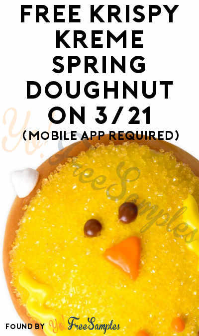 TODAY ONLY: FREE Krispy Kreme Spring Doughnut On 3/21 (Mobile App Required)