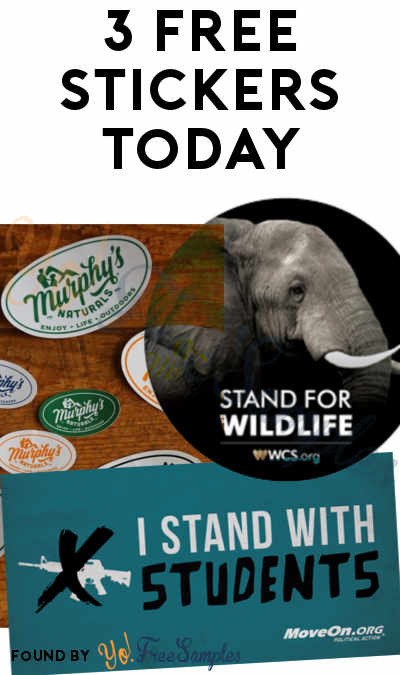 3 FREE Stickers Today: Murphy's Naturals Sticker, I Stand With Students Sticker & WCS Wildlife Sticker