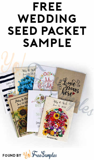 FREE Wedding Seed Packet Sample