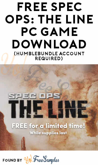 FREE Spec Ops: The Line PC Game Download (HumbleBundle Account Required)