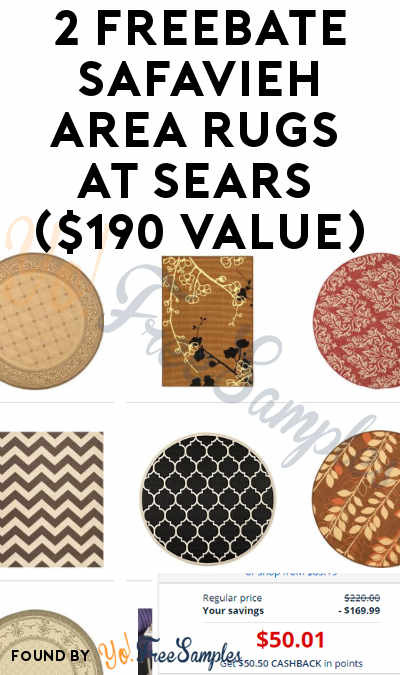 2 FREEBATE Safavieh Area Rugs At Sears ($190 Value)