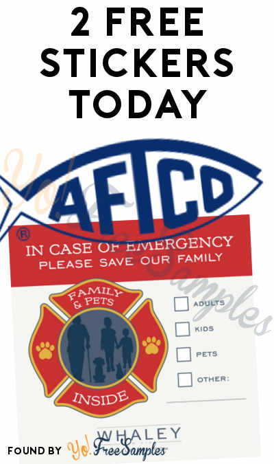 2 FREE Stickers Today: Family Pets Fire Rescue Window Decal (LA Only) & AFTCO Fishing Stickers