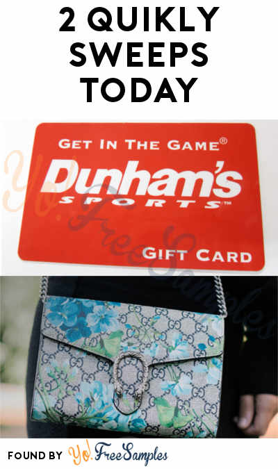 2 Quikly Sweepstakes Today: Win FREE Prizes From JOANN & Dunham's (Mobile Number Required)