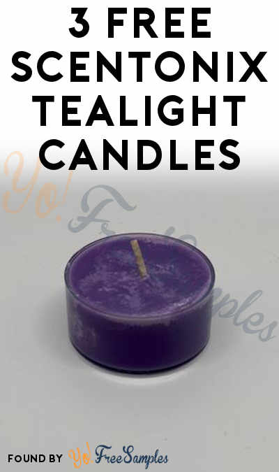 3 FREE Scentonix Tealight Candles