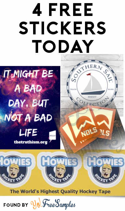 4 FREE Stickers Today: Truthism Inspirational Sticker, Howies Hockey Tape Sticker, NOLS Sticker & Southern Sail Sticker