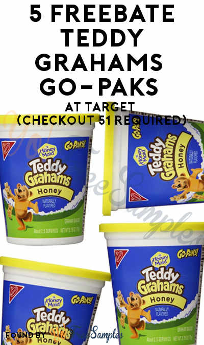 5 FREEBATE Teddy Grahams Go-Paks At Target (Checkout 51 Required)