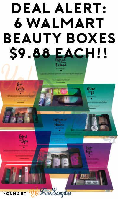 DEAL ALERT: 6 Walmart Beauty Boxes For $9.88 Each!