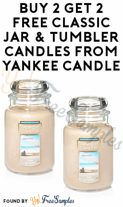 Buy 2 Get 2 FREE Classic Jar & Tumbler Candles From Yankee Candle