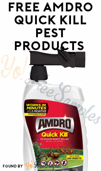 FREE AMDRO Quick Kill Pest Products