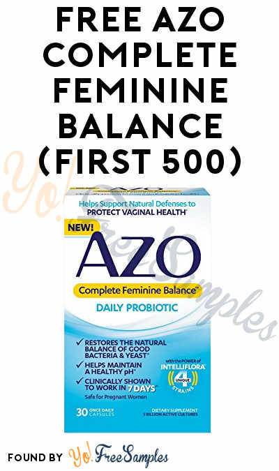 FREE AZO Complete Feminine Balance (First 500)