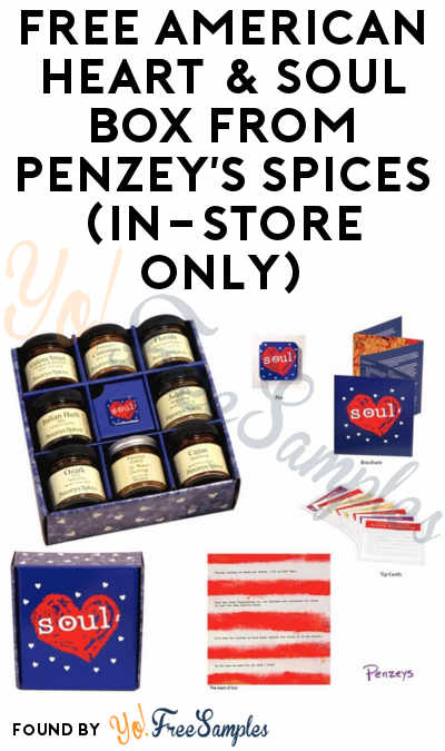 FREE American Heart & Soul Box From Penzey's Spices (In-Store Only)