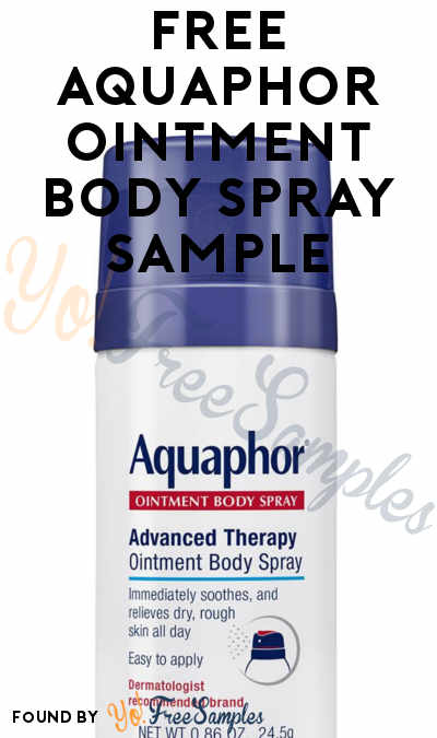 FREE Aquaphor Ointment Body Spray Sample
