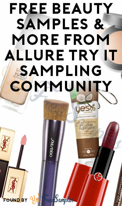 Possible FREE Beauty Samples & More From Allure Try It Sampling Community