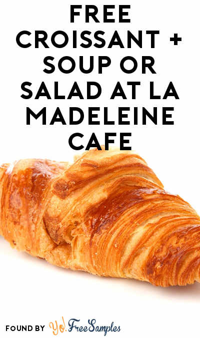FREE Croissant + Soup or Salad At La Madeleine Cafe