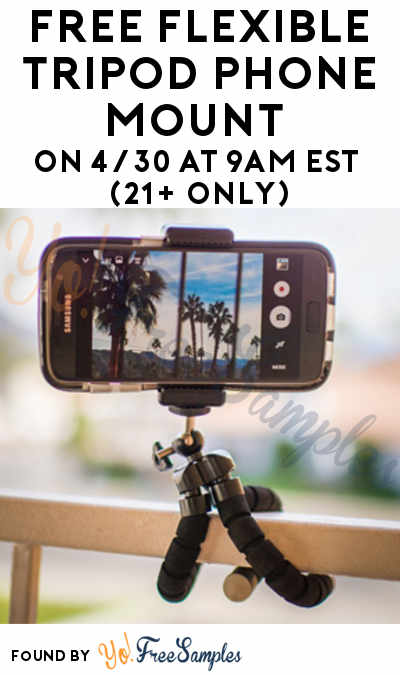 Win FREE Prizes & A FREE Flexible Tripod Phone Mount After First Entry (21+ Only)