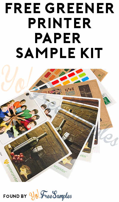 FREE Greener Printer Paper Sample Kit (Email Confirmation Required)