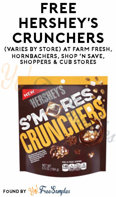TODAY ONLY: FREE Hershey's Crunchers (Varies By Store) At Farm Fresh, Hornbachers, Shop 'N Save, Shoppers & Cub Stores