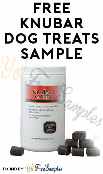 FREE KnuBar Dog Treats Sample