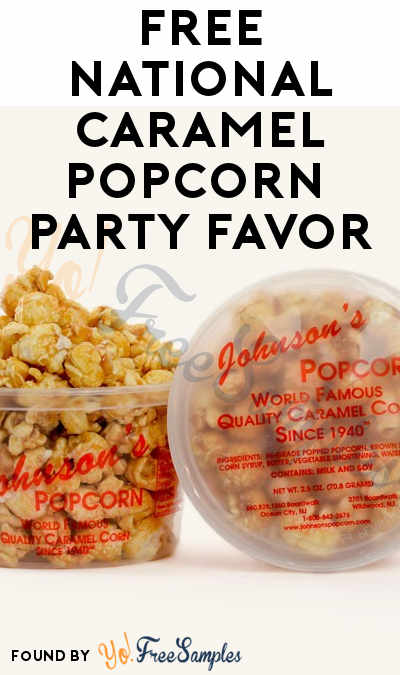 Working Better: FREE National Caramel Popcorn 2.5 oz Party Favor [Verified Received By Mail]