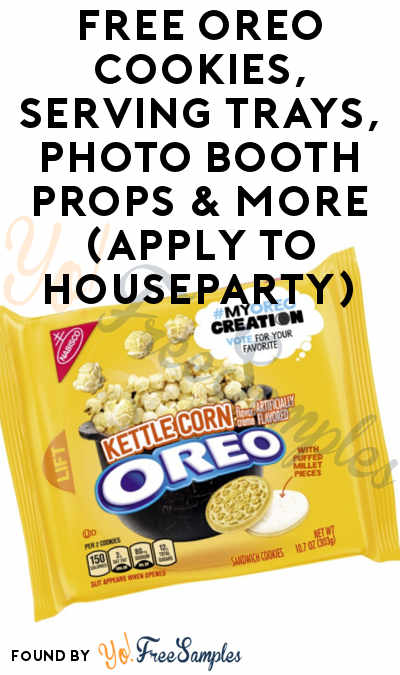 FREE OREO Cookies, Serving Trays, Photo Booth Props & More (Apply To HouseParty)