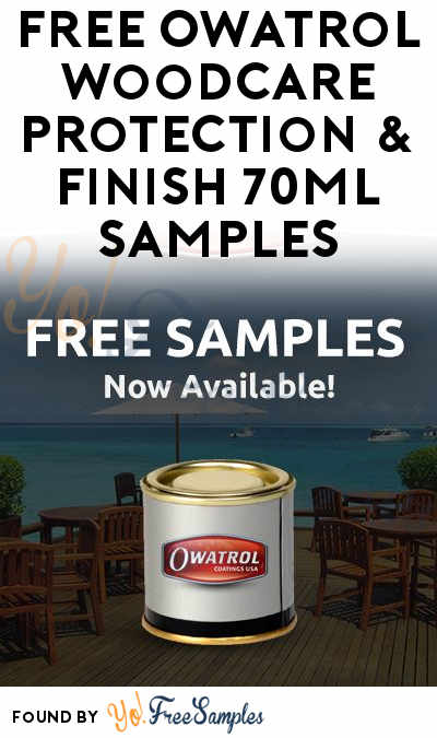 FREE Owatrol Woodcare Protection & Finish 70ml Samples
