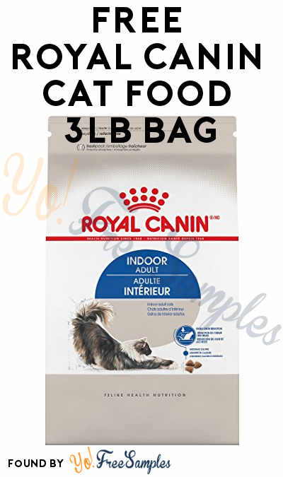 FREE Royal Canin Indoor Adult Dry Cat Food 3lb Bag