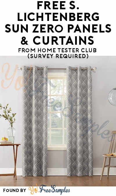 New: FREE S. Lichtenberg Sun Zero Panels & Curtains From Home Tester Club (Survey Required)