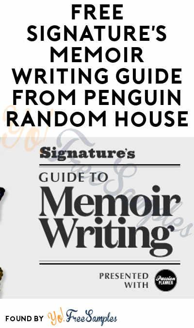 FREE Signature's Memoir Writing Guide From Penguin Random House