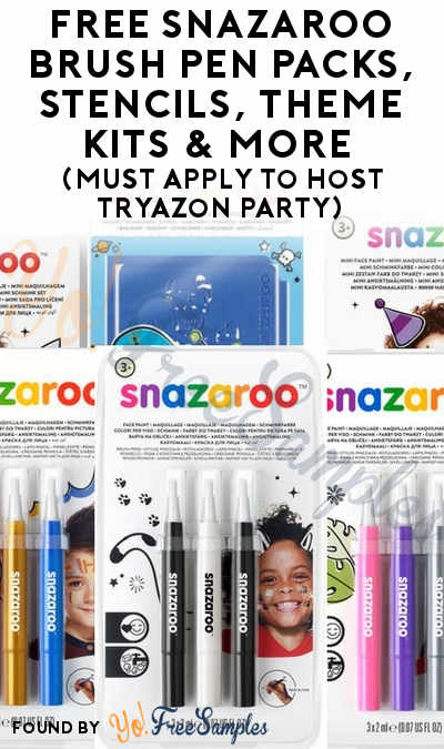 FREE Snazaroo Brush Pen Packs, Stencils, Theme Kits & More (Must Apply To Host Tryazon Party)