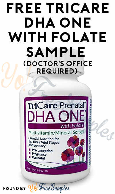 FREE TriCare DHA One With Folate Sample (Doctor's Office Required)