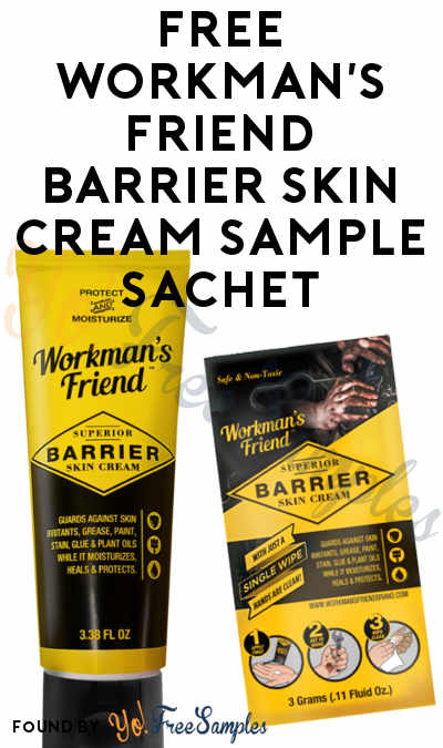 FREE Workman's Friend Barrier Skin Cream Sample Sachet [Verified Received By Mail]