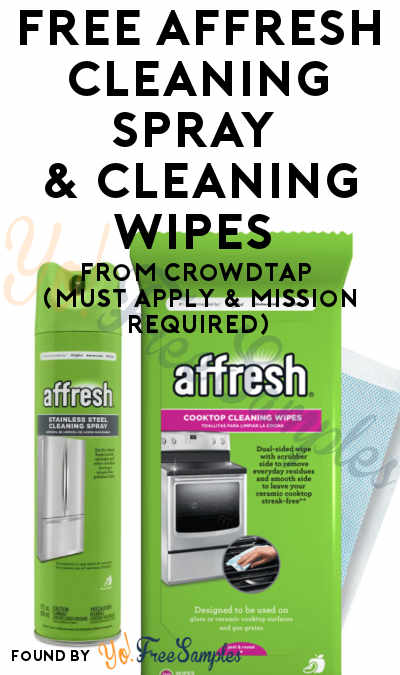 FREE affresh Cleaning Spray & Cleaning Wipes From CrowdTap (Must Apply & Mission Required)