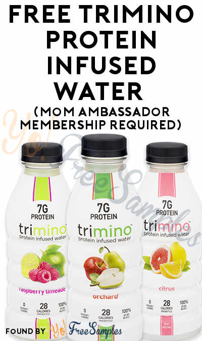 FREE trimino Protein Infused Water From MomsMeet (Must Apply)