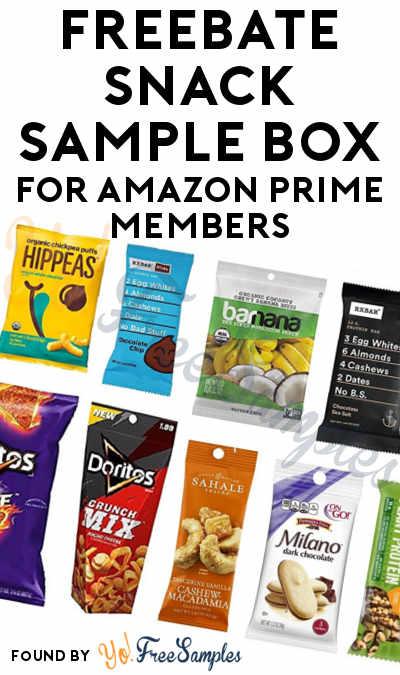 FREEBATE Snack Sample Box For Amazon Prime Members