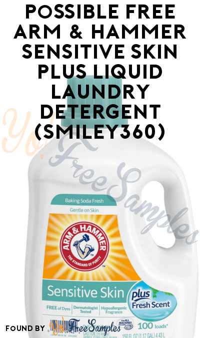 Possible FREE Arm & Hammer Sensitive Skin Plus Liquid Laundry Detergent (Smiley360)