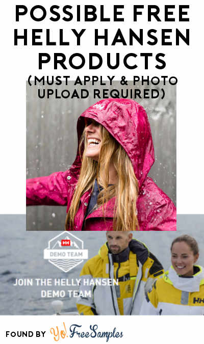 Possible FREE Helly Hansen Products For Helly Hansen Skagen Sailing Team Members (Must Apply + Photo Upload Required)