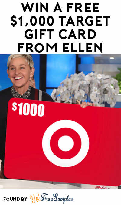 Win A FREE $1,000 Target Gift Card From Ellen