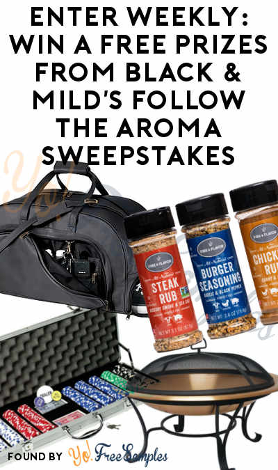 Enter Daily: Win A FREE Copper Fire Pit, Fat Cat Poker Chip Set, Royce Leather Organizer Duffel, Fire & Flavor Seasoning Pack, $10K Check & More Prizes From Black & Mild's Follow The Aroma Sweepstakes