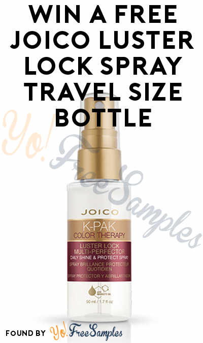 Win A FREE Joico Luster Lock Spray Travel Size Bottle