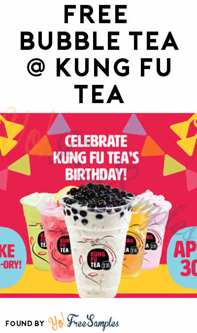 TODAY ONLY: FREE Bubble Tea At Kung Fu Tea