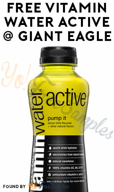 FREE VitaminWater Active At Giant Eagle (eAdvantage Card Required)