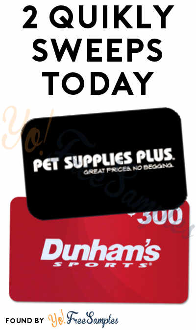 2 Quikly Sweepstakes Today: Win FREE Prizes From Pei Wei & Dunham's (Mobile Number Required)